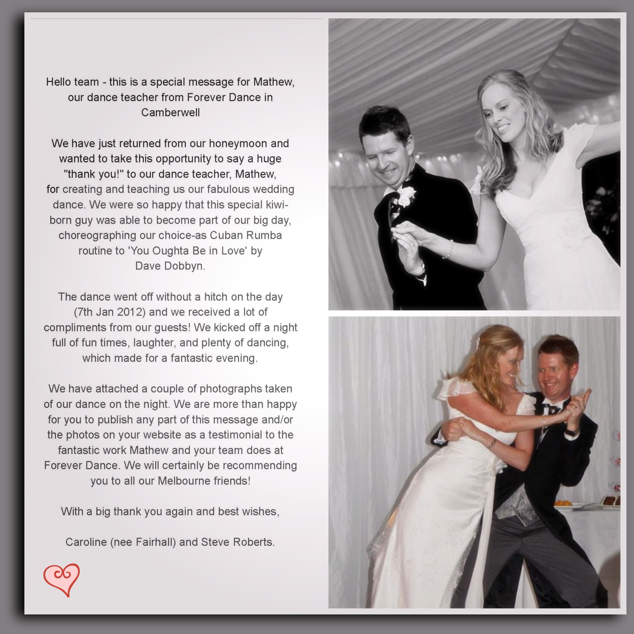 Testimonal Caroline And Steve Collage Jpg Wedding 2